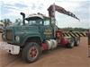 1986 Mack Econodyne 6 x 4 Crane Truck