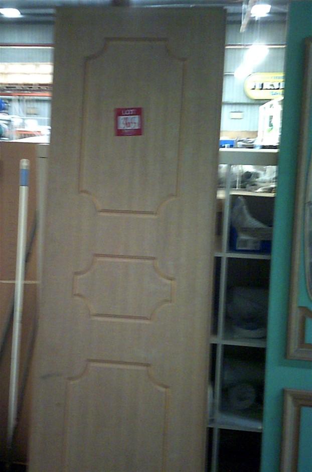 3 units of 2040mm x 620mm x 35mm Timber veneer doors.