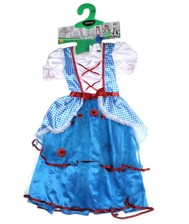 RUBIE DEERFIELD Kids (Girls) Dorothy From Wizard of Oz Costume, Size L (10-