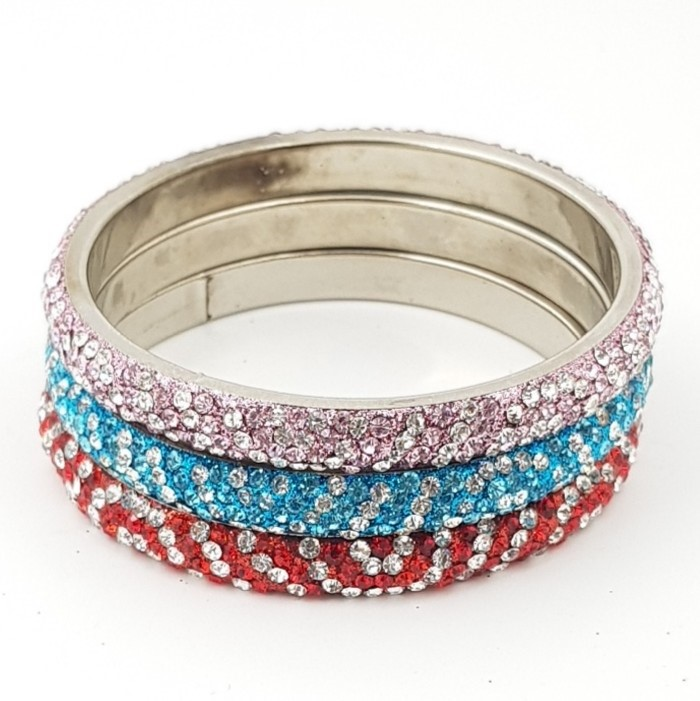 Assorted Lot of Crystal Bangles