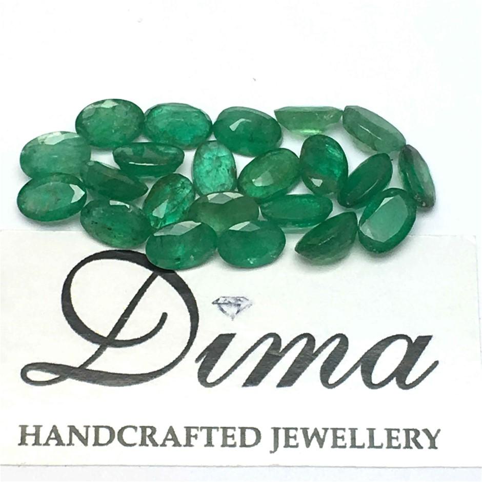 Twenty Two Loose Emerald 9.92ct in Total