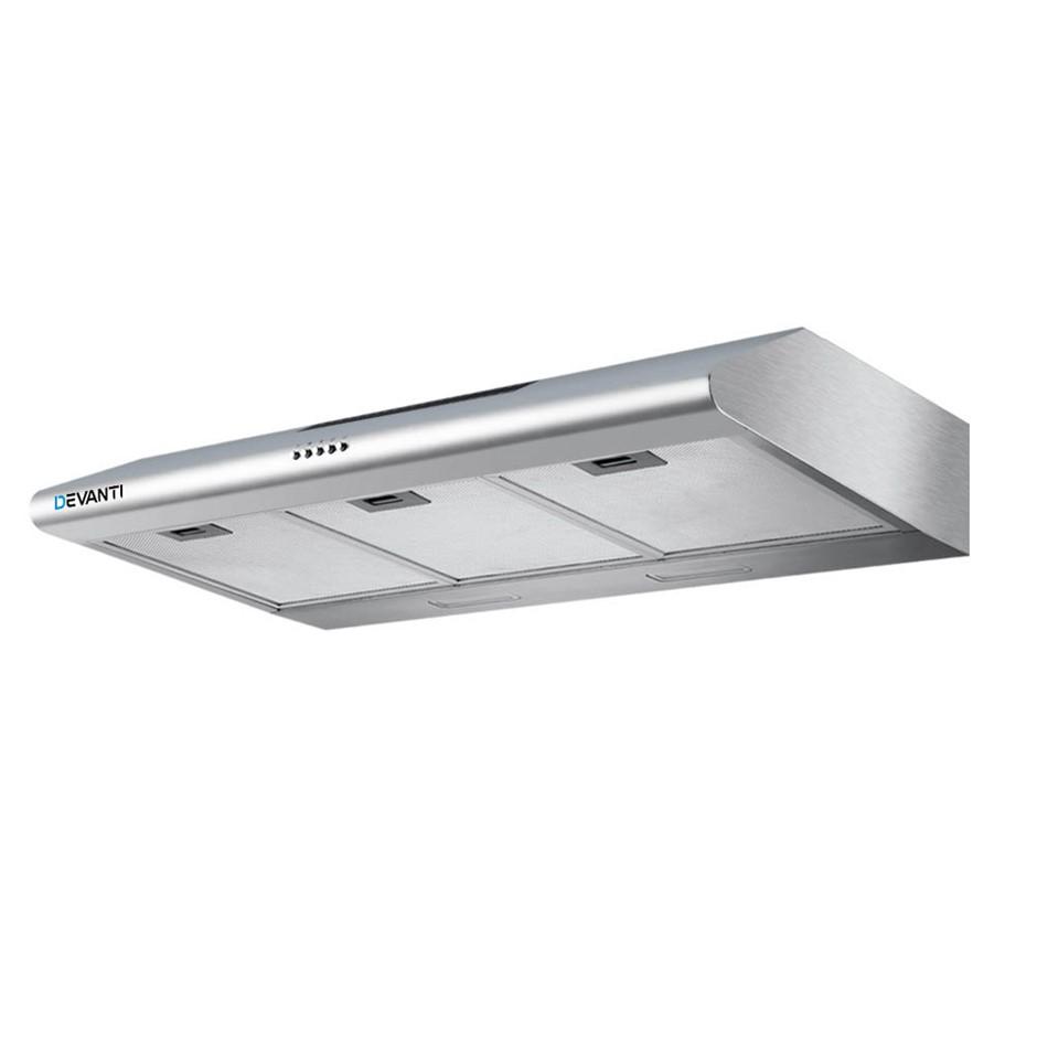 Devanti Fixed Rangehood Stainless Steel Kitchen Canopy 90cm 900mm