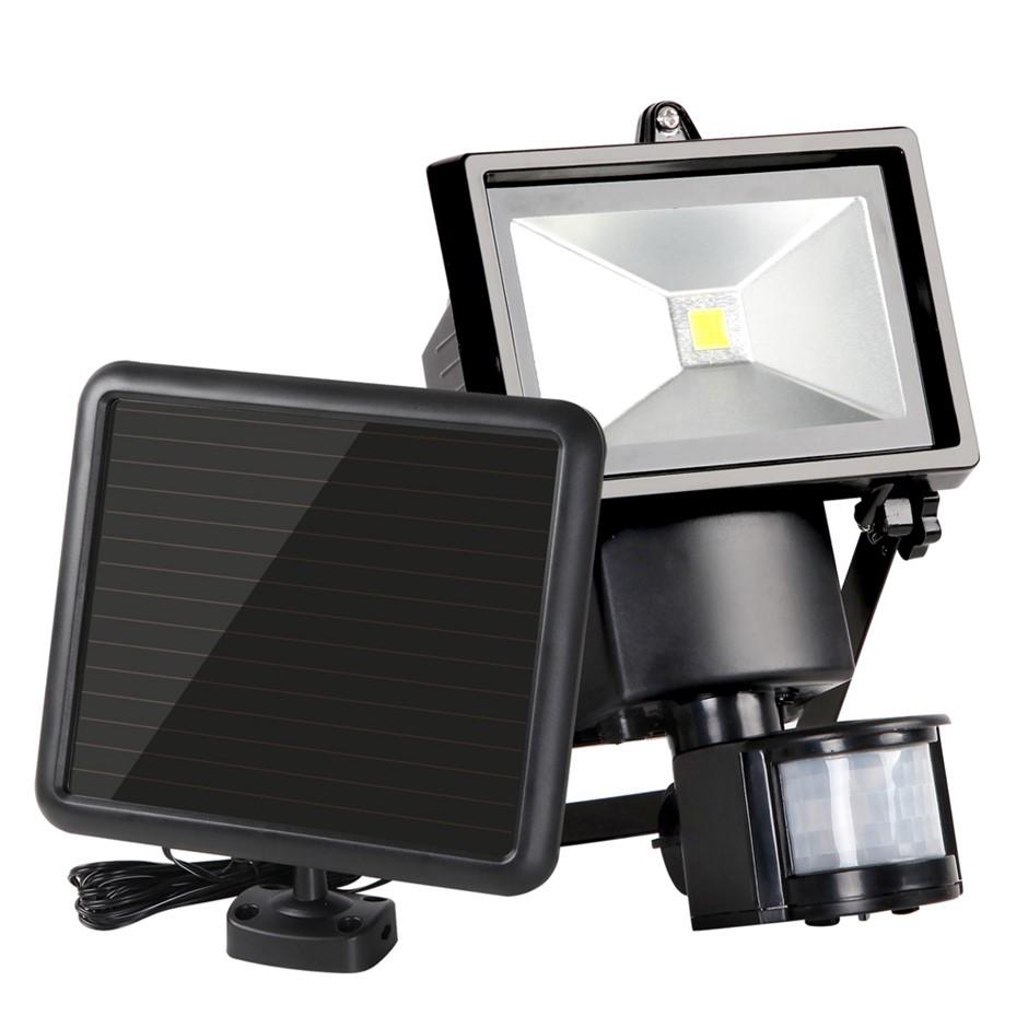 Set of 2 5W COB LED Solar Sensor Light Outdoor Security Floodlights Motion