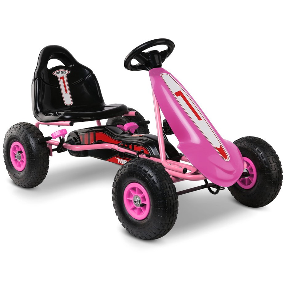 Rigo Kids Pedal Powered Go Kart - Pink
