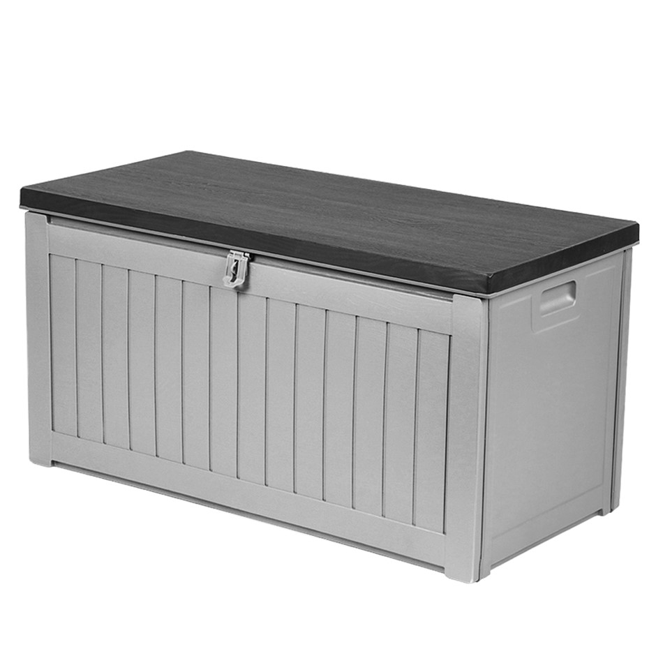 Gardeon Outdoor Storage Box Bench Seat Lockable Garden Deck Toy Tool 190L