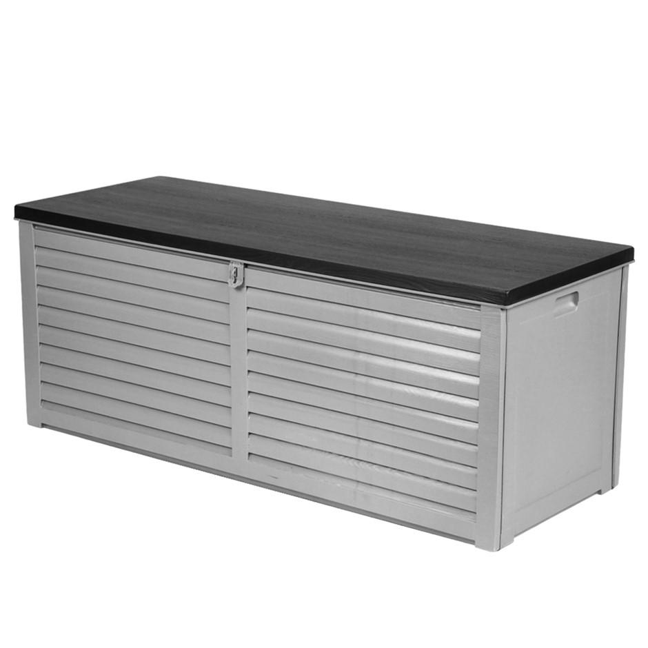 Gardeon Outdoor Storage Box Bench Seat Lockable Garden Deck Toy Tool 390L