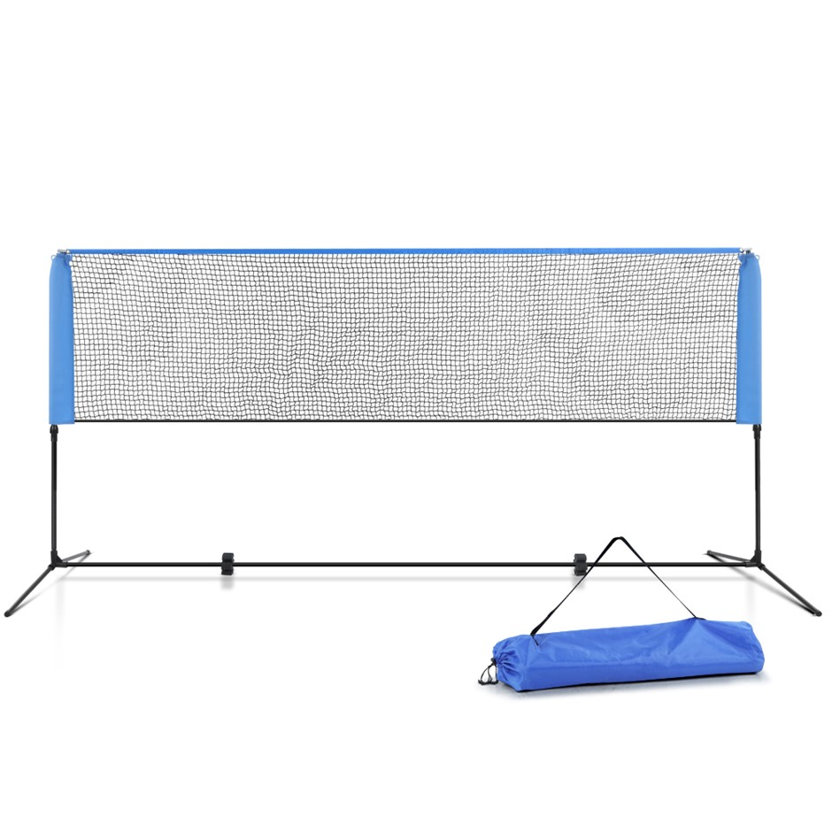 Everfit Portable Sports Net Stand Badminton Volleyball Soccer 3M 3FT Blue