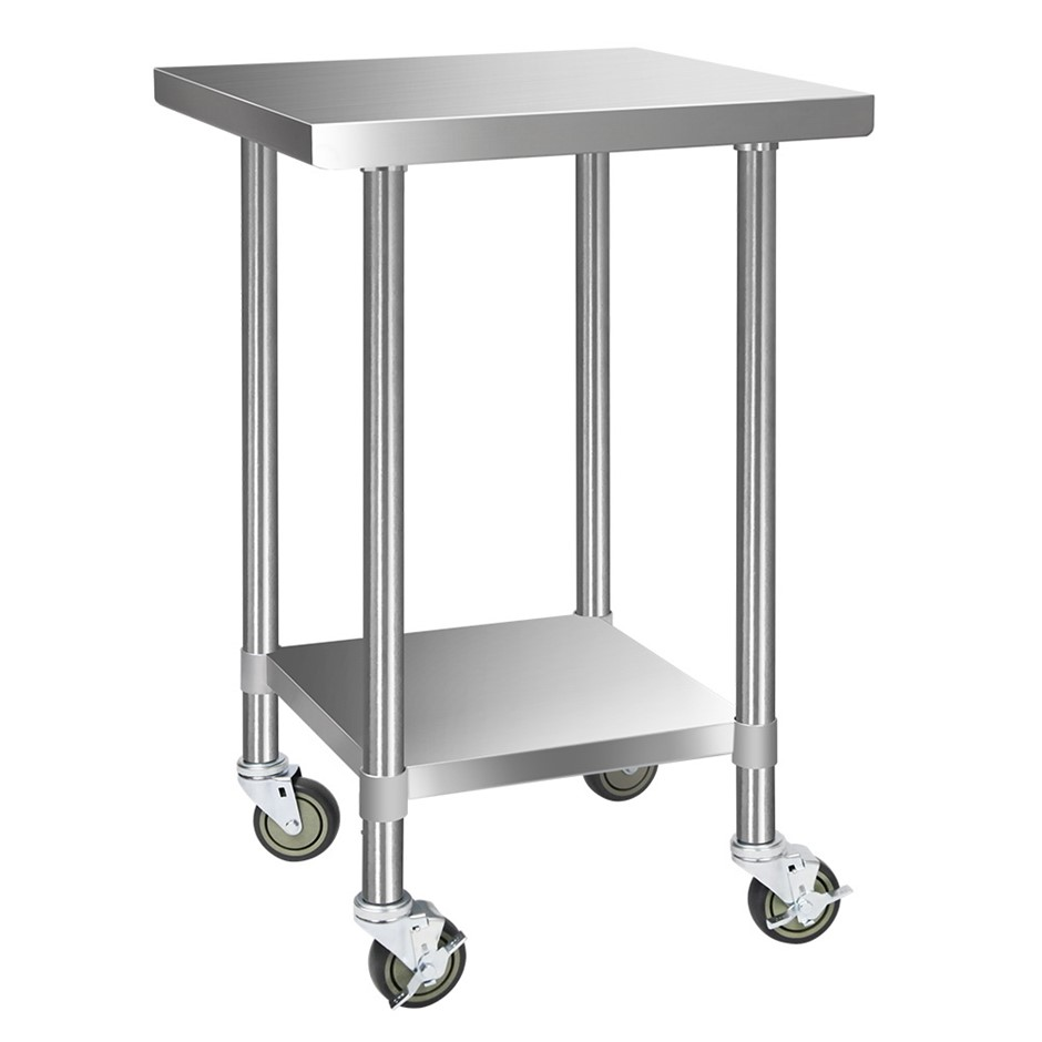 Cefito 610x610mm Commercial 430 Stainless Steel Bench