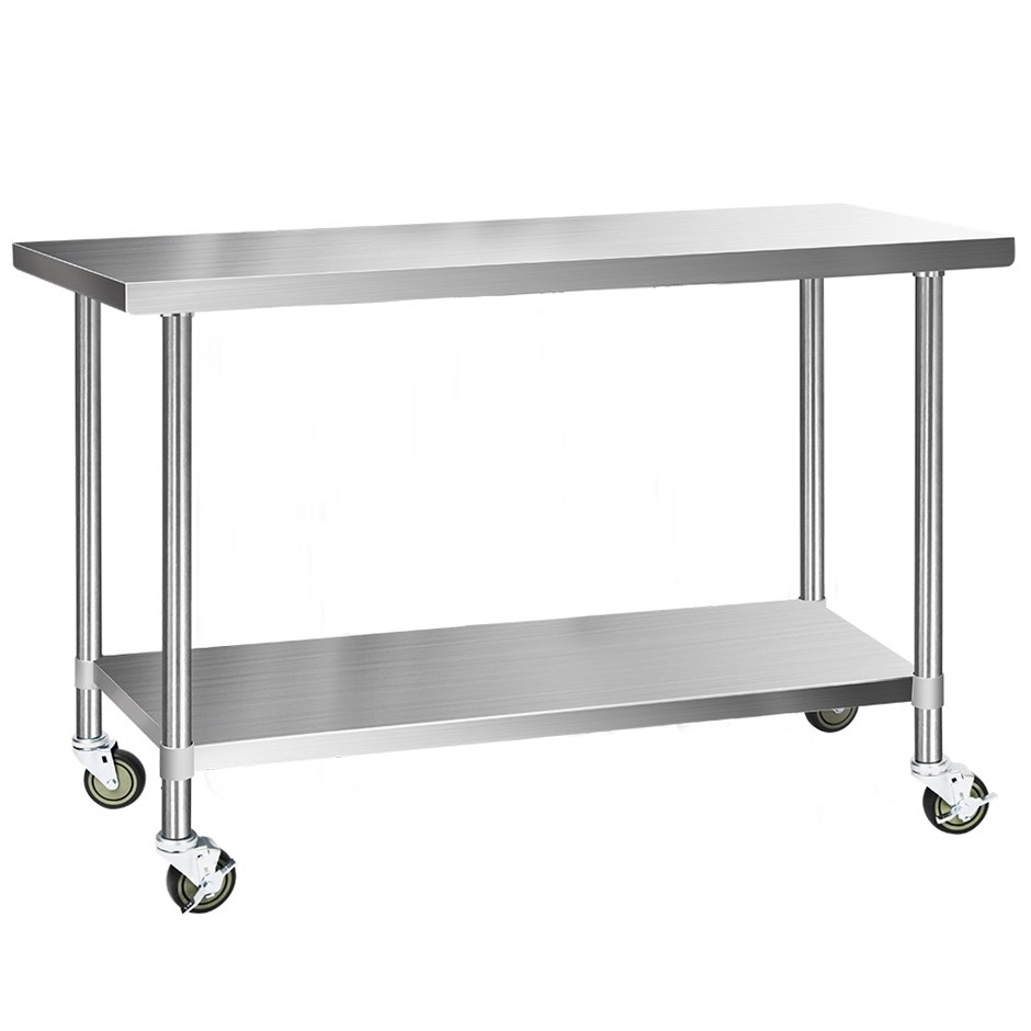 Cefito 1524x610mm Commercial 430 Stainless Steel Bench