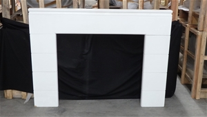 Custom Wood Timber Fireplace Surround