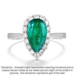 18ct White Gold, 1.91ct Emerald and Diam
