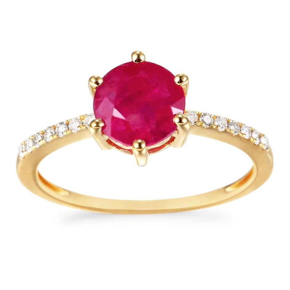 9ct Yellow Gold, 2.16ct Diamond Ring