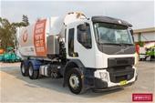 2016 Volvo FE300 Side Load Garbage Compactor