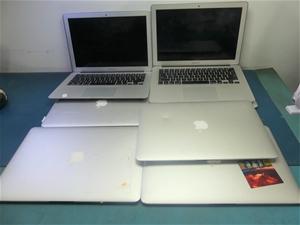Box of assorted Faulty 7 Apple MacBook N