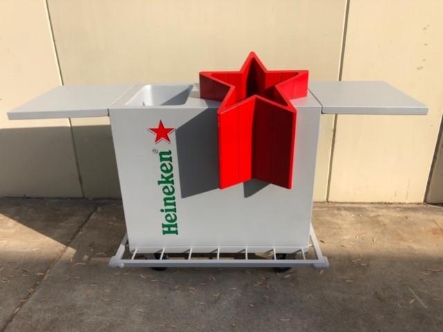 "HEINEKEN ""FULL"" Display Party Bar/ Drinks Portable Alfresco Cooler"