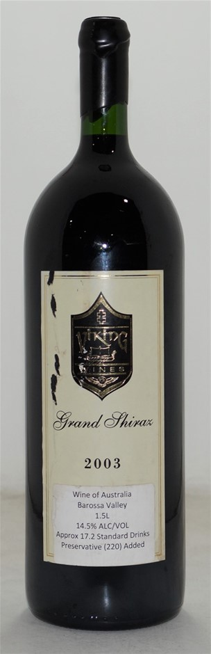 Viking Wines Grand Shiraz 2003 (1x 1.5L), Barossa. Cork.