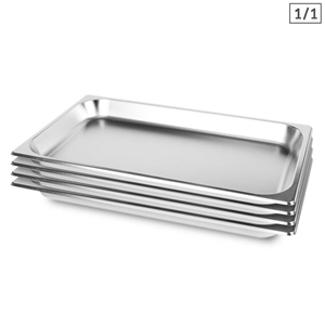 SOGA 4X Gastronorm GN Pan Full Size 1/1