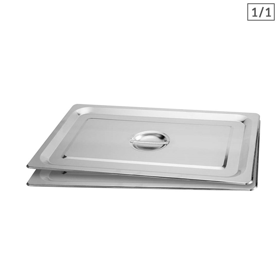 SOGA 2X Gastronorm GN Pan Lid Full Size 1/1 Stainless Steel Tray Top Cover