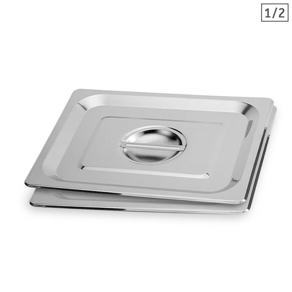 SOGA 2X Gastronorm GN Pan Lid Full Size 1/2 Stainless Steel Tray Top Cover