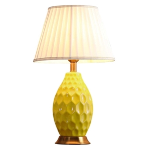 SOGA Textured Ceramic Oval Table Lamp wi