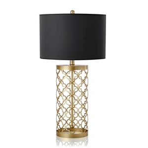 SOGA Golden Hollowed Out Base Table Lamp