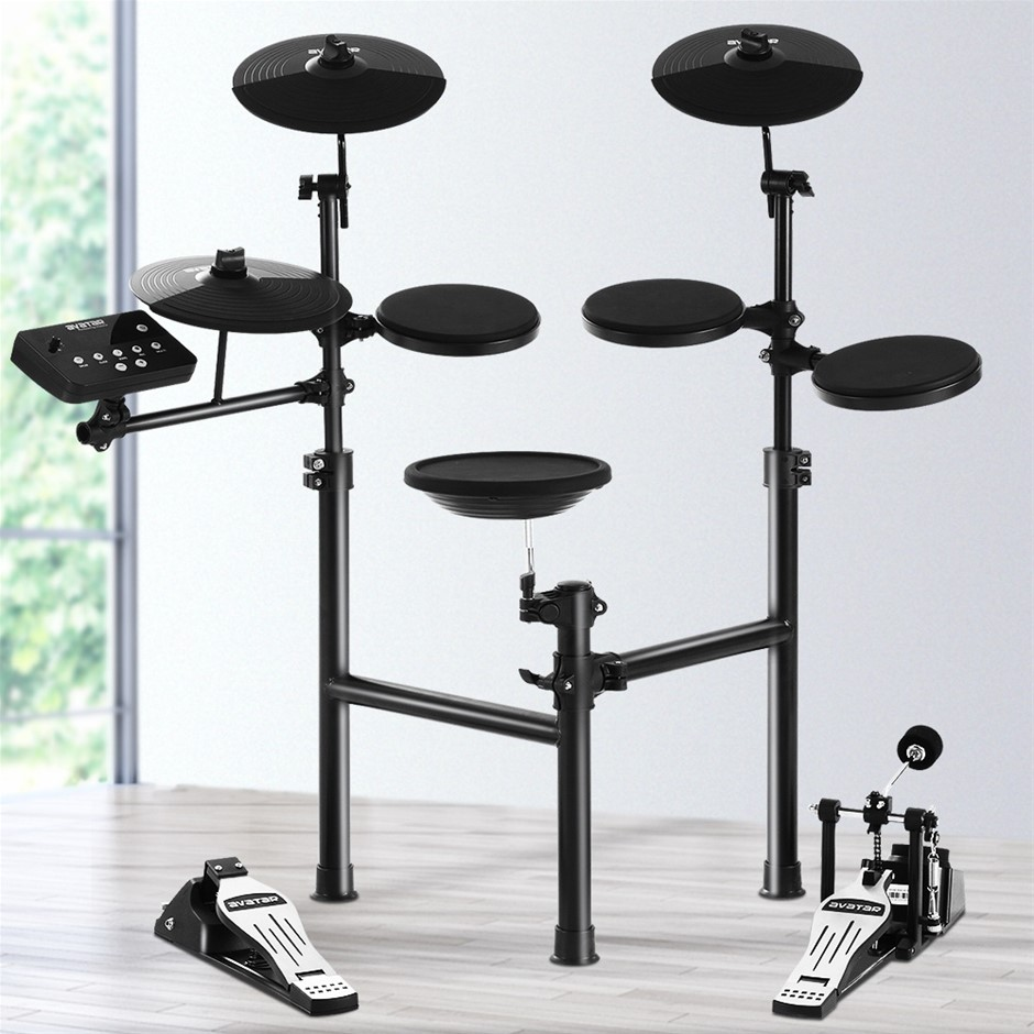 8 Piece Electric Electronic Drum Kit Drums Set Pad Tom Foldable