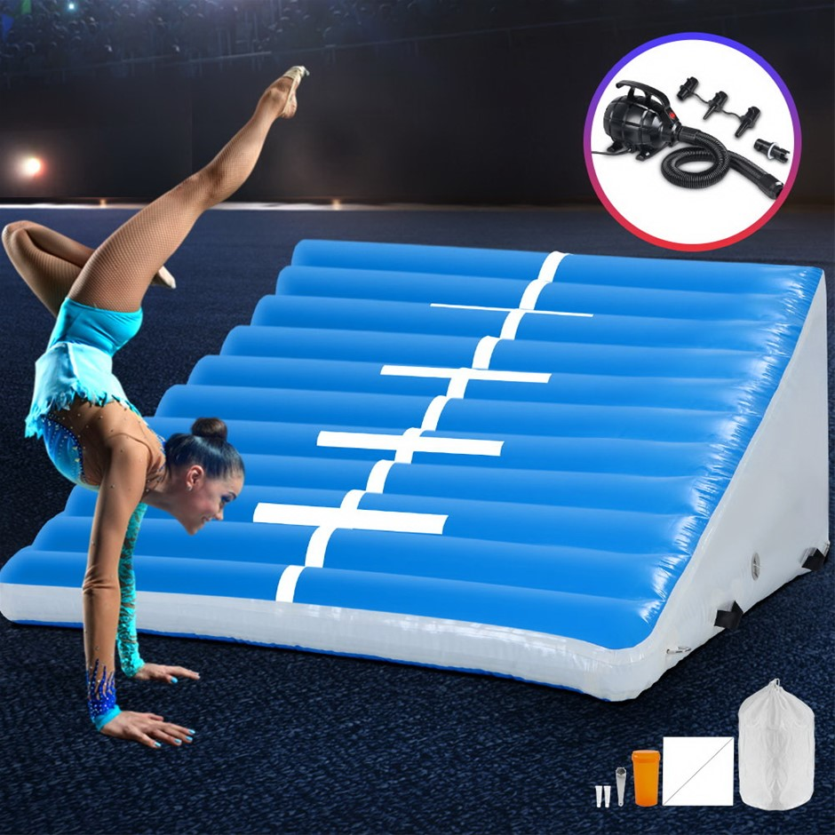 Everfit 2MX2MX0.6M Airtrack Inflatable Air Track Ramp W/Pump Incline Mat