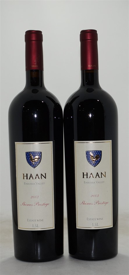 Haan Prestige Shiraz 2003 (2x 1.5L), Barossa.