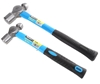 2 x BERENT Ball Pein Hammers, 8oz & 32oz, Fiberglass Handle with Rubber Gri