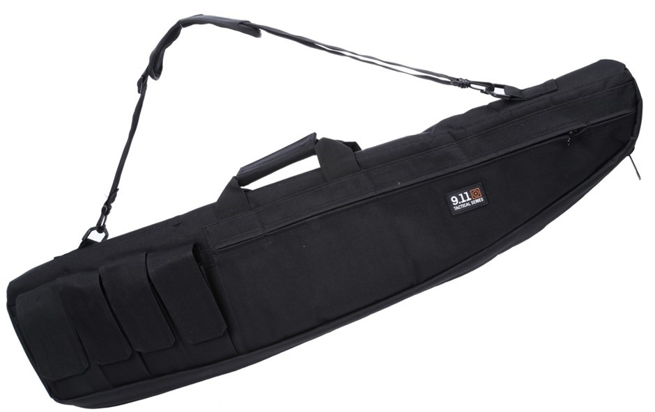 Rifle Gun Bag Heavy Duty, 1200mm, Canvass Ammunition Side Pockets c/w Shoul