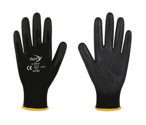 12 Pairs x DERMA CARE Multi-Purpose Light Weight Gloves Size L, Machine Kni