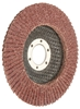 10 x TOLSEN Aluminum Oxide Flap Discs, 125x22.2mm, Grit 120, Fibre Backing.