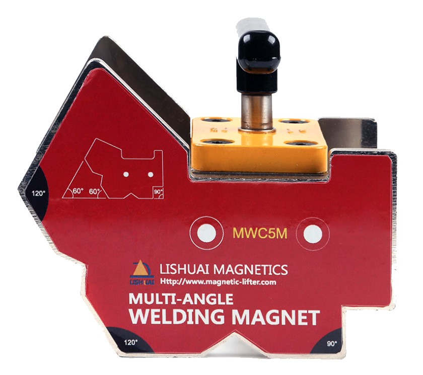 Multi-Angle Magnetic Welding Clamp 120kg Force, On/Off Control Size 112 x 7
