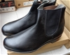 T Boots Black Elastic Sided Leather Ankle Boots 9.5 - DELIVERY AVAILABLE