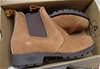 <b>T Boots Beige Elastic Sided Leather Desert Boots 9 - DELIVERY AVAILABLE