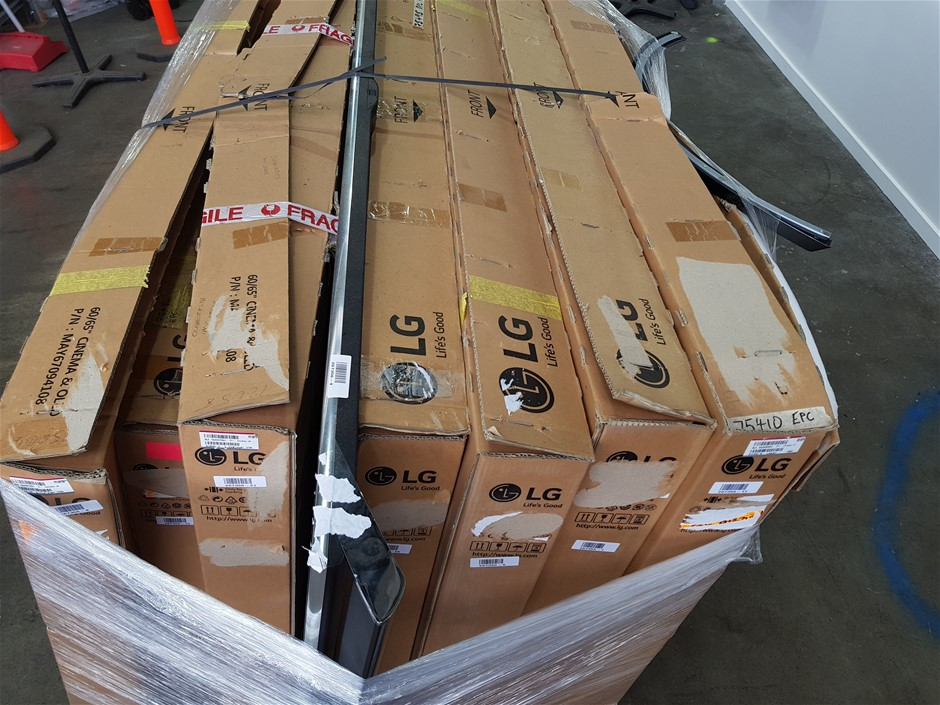 Pallet of Assorted LG USED/UNTESTED Televisions
