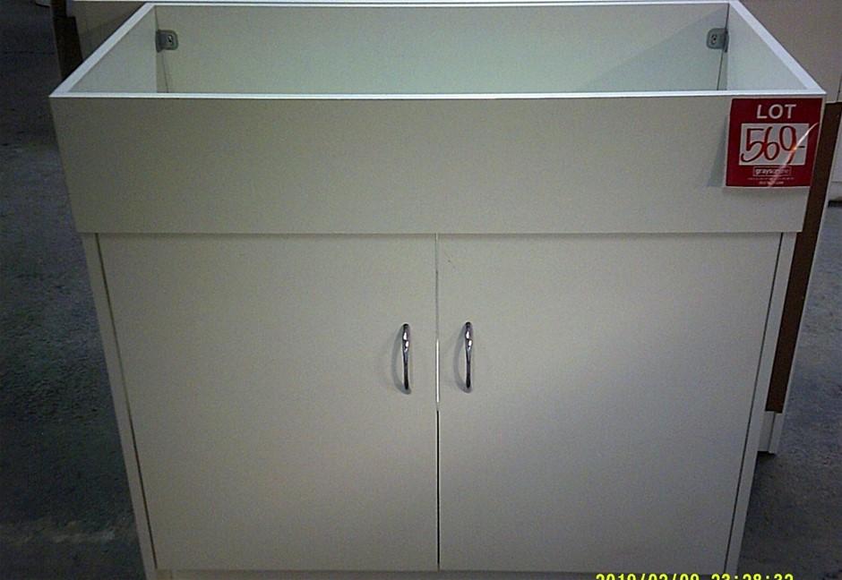 2 Door 900mm Vanity Unit. New in box. In kit form