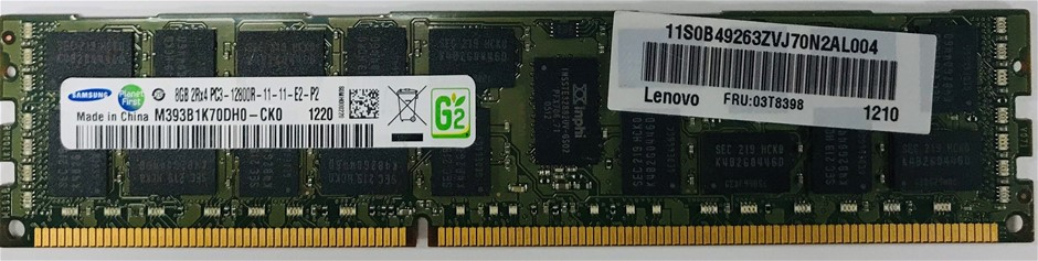 Samsung 8GB 2Rx4 DDR3 12800R 288pin SDRAM Double-Side 36-Chip Memory Module