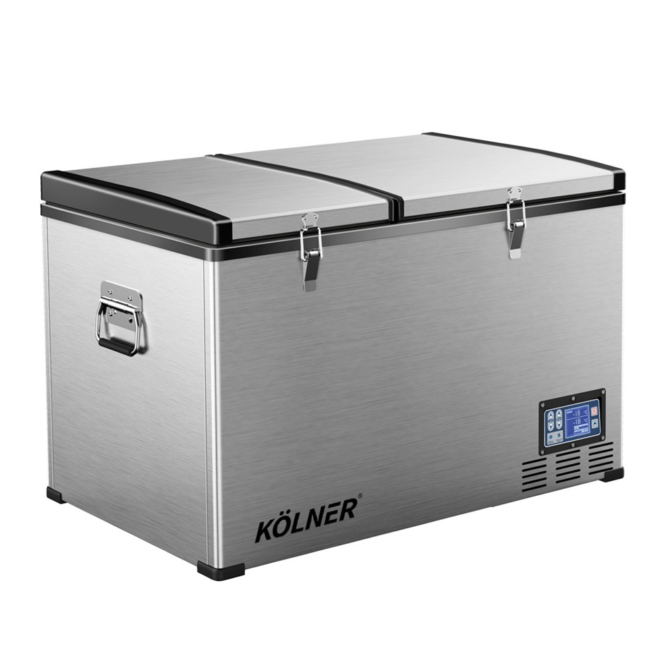 Kolner 80L Portable Fridge Freezer Cooler Camping Stainless Steel