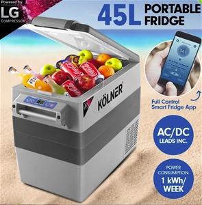 Kolner 45L Portable Fridge Freezer Coole