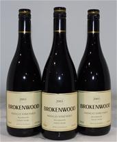 Brokenwood Indigo Vineyard Pinot Noir 2003 (3x 750mL), Beechworth. Cork.