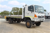 Unreserved 2010 Hino GT T/D 4x4 Tray Body Truck (Ex Corp)