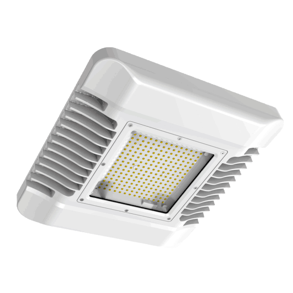 FL4000 + Fl4001 - Led Canopy Light 150 With Recessed Bracket Mounting