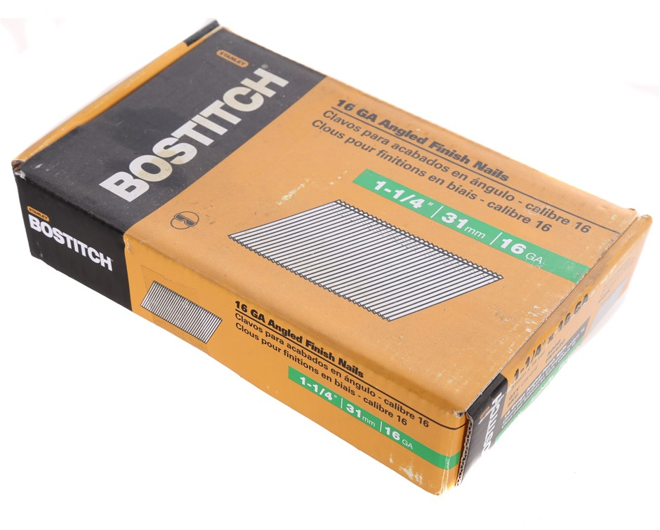 Pack of 5000 X BOSTITCH Galvanised Finish Nails 31mm x 16G, Head 3mm. (SN:F