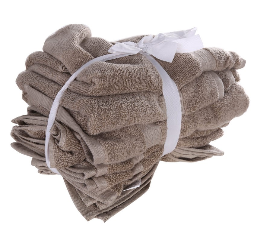 CROWNING TOUCH 7pc Gift Set Comprising: Bath Towel (71 x 132cm), Hand Towel