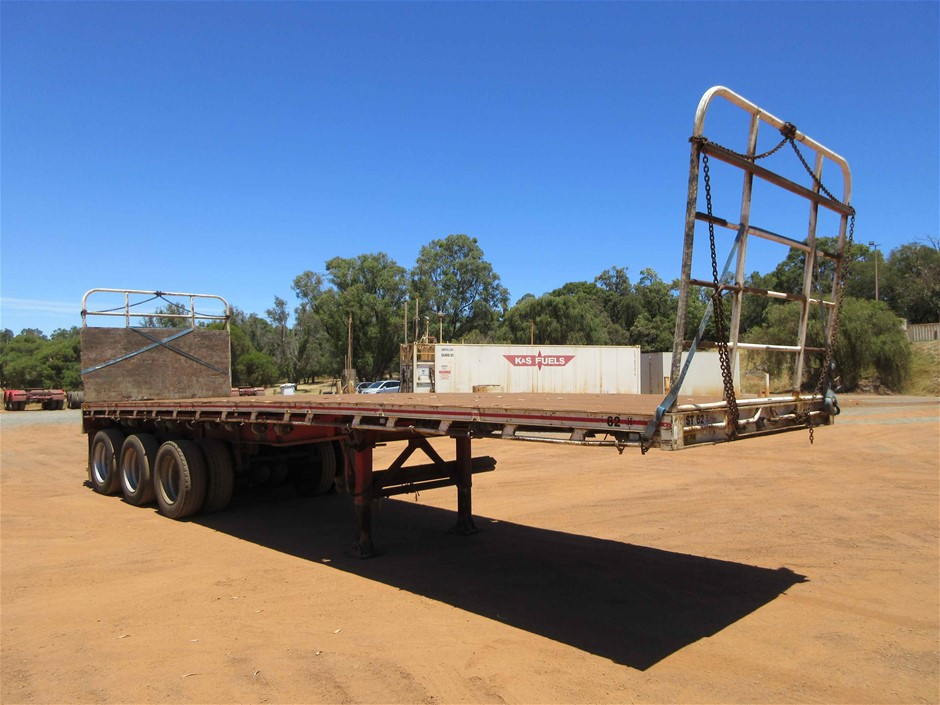 1987 General Transport 33Ft Triaxle Flat Top Trailer