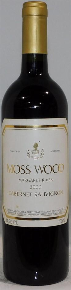 Moss Wood Cabernet Sauvignon 2000 (1x 750mL), Margaret River. Cork.