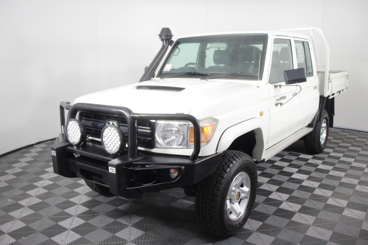 2013 Toyota Landcruiser Workmate (4x4) Turbo Diesel Dual Cab Chassis
