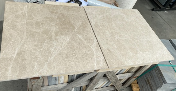 1 x Crate Light Emperador Marble Brushed Tiles 610x610x12mm Approx 19.72m2