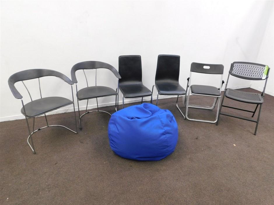 Qty 7 x Various Chairs